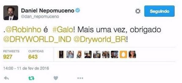 Robinho acertou com o Atlético Mineiro para 2016
