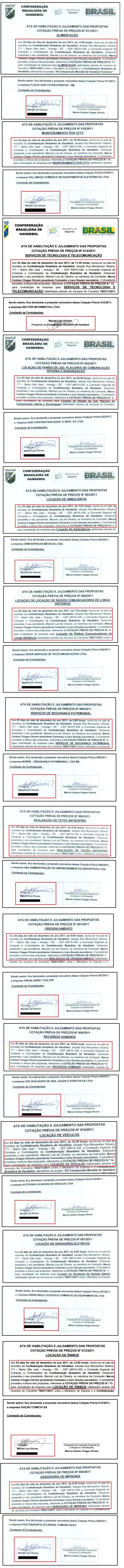 As 14 atas: reuniões foram em Aracaju, mas assinadas por cartolas que estavam em SP