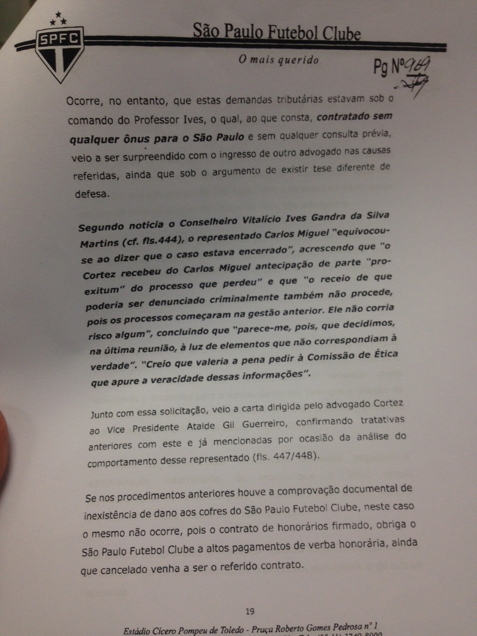 Comitê de Ética analisa conduta de Aidar em caso José Roberto Cortez