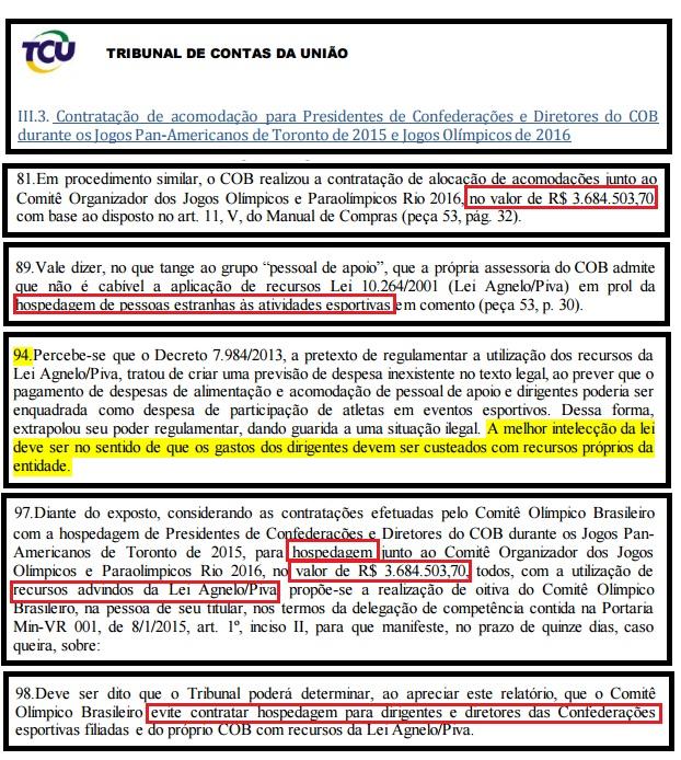 COB pagou R$ 3,6 milhões em hospedagens a cartolas durante Rio 2016