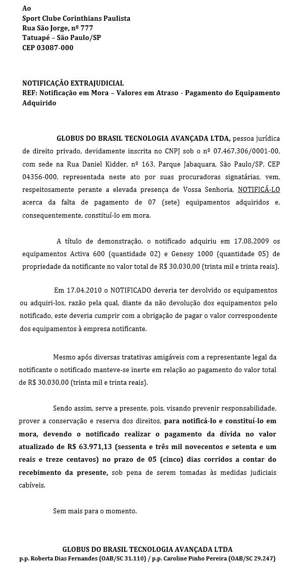 Corinthians é acusado de não pagar por equipamentos de fisioterapia
