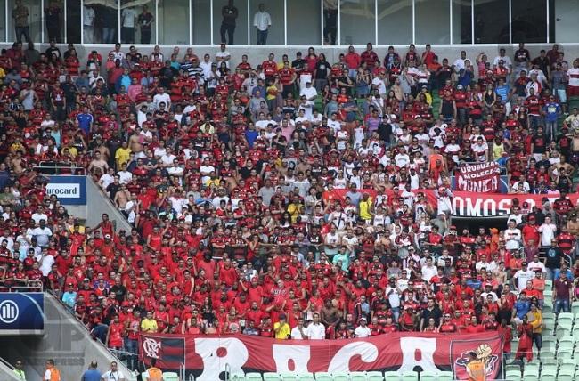 1b82cf509a Setor onde ficou confinada a torcida do Flamengo no Allianz Parque na  visita ao estádio em