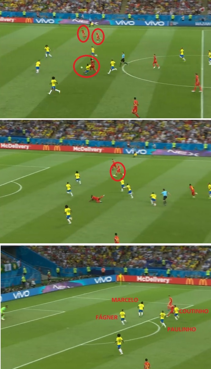 A jogada do segundo gol belga  Lukaku tinha De Bruyne e Meunier livres para  receber fc1fa27751193