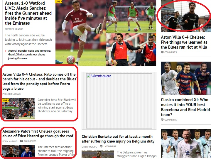 9e8b5c4cf8 Em diferentes pontos da página Daily Mirror exibiu o brasileiro que se  destacou no jogo de