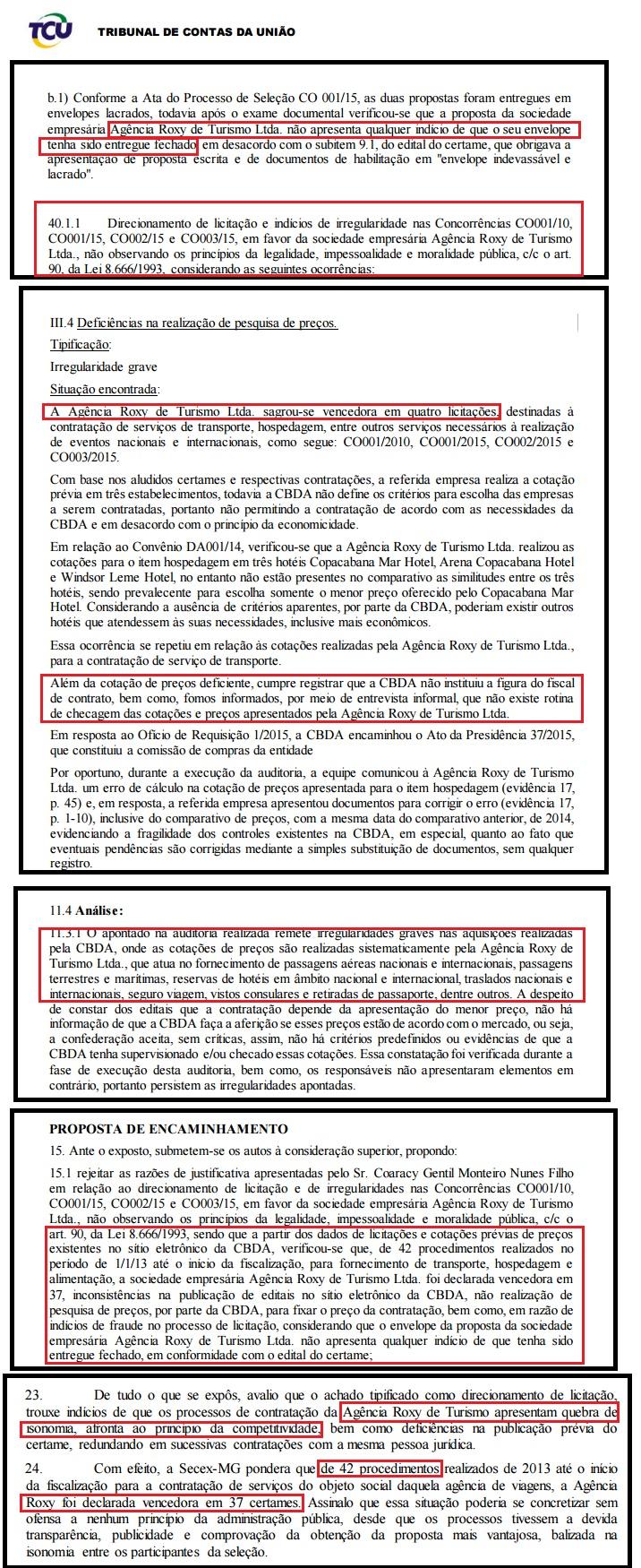 Auditoria da CGU aponta evidências de fraudes envolvendo Roxy e CBDA