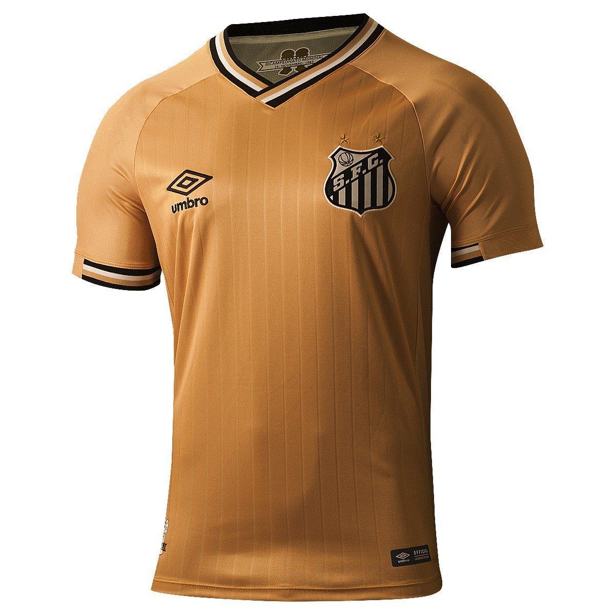 671ad3aa7a521 Santos  Nova camisa 3 dourada vaza antes do lançamento oficial ...