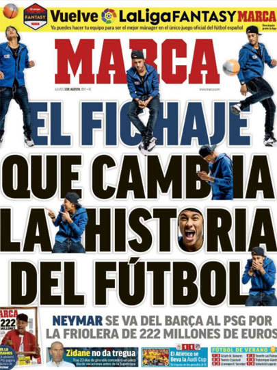 """""""A contratação que muda a história do futebol"""" Marca, da Espanha"""