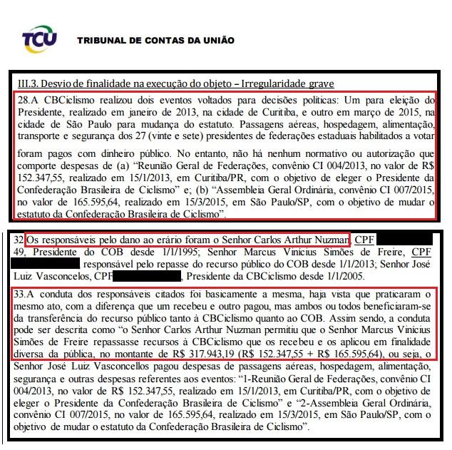 Nuzman é citado em auditoria do ciclismo, que utilizou dinheiro com cartolas