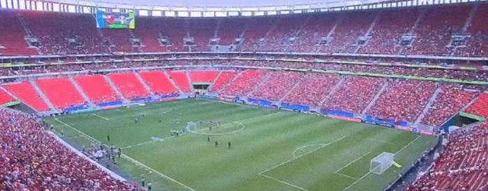 Flamengo x Grêmio em Brasília: olho grande dos cartolas e público que caberia em Cariacica