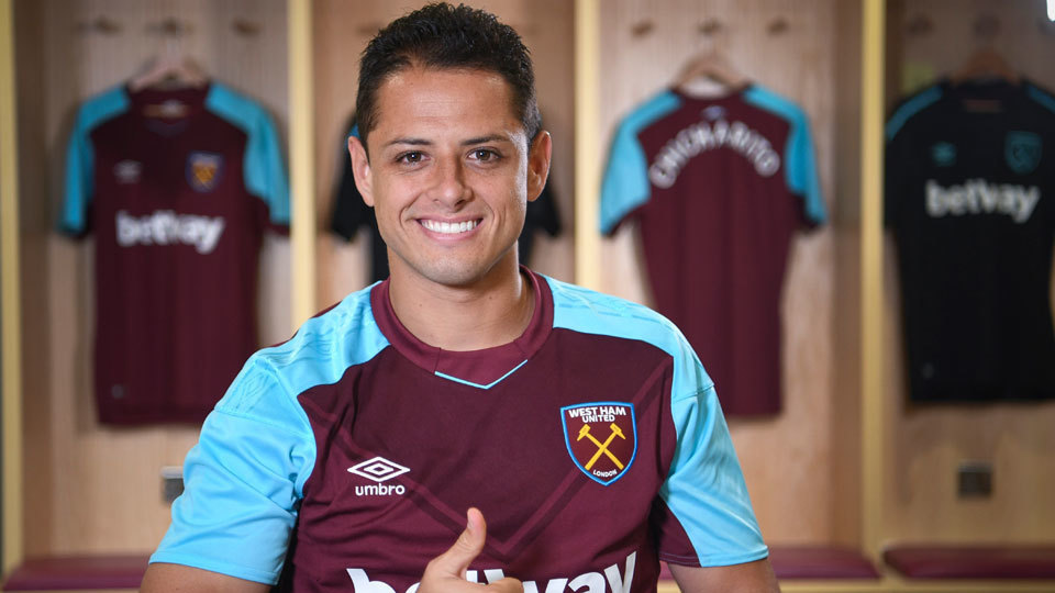 West Ham (Chicharito) - US$ 300 por cada dólar apostado