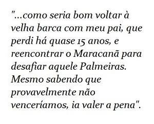 Trecho do texto sobre os 100 anos do Palmeiras