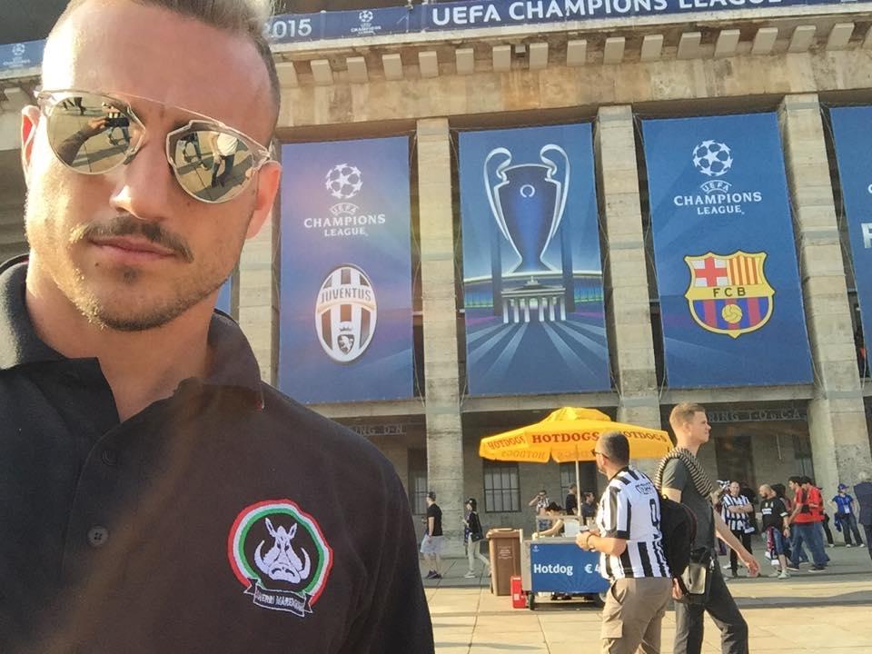 Zagueiro Blanchard, do Frosinone, estava no estádio torcendo pela Juventus em Berlim