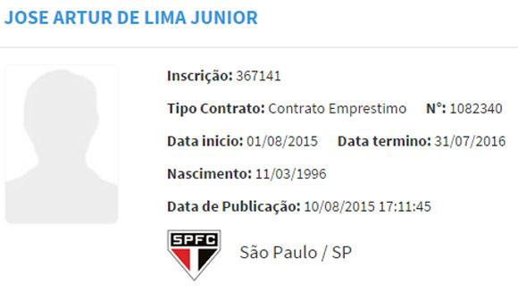 Sete dias depois, o São Paulo confirmou o empréstimo do meio-campista por um ano