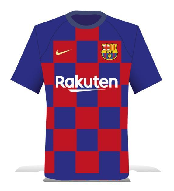 Jornal diz que Barcelona terá camisa quadriculada à lá Croácia  veja como  seria 8cc3c5e0801af