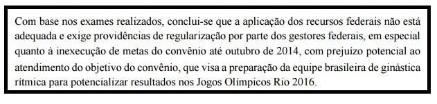 Ministério da Transparência viu prejuízo na preparação de atletas da Ginástica