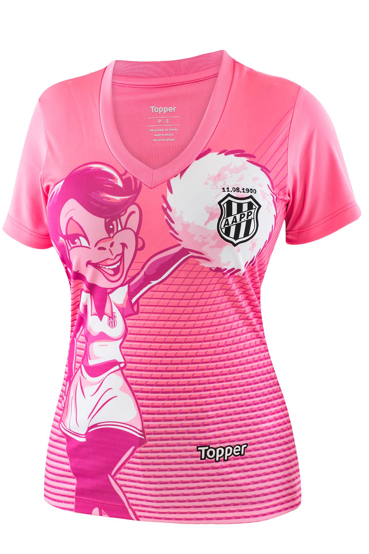 740f0a6eb3 Fornecedora lança camisas alusivas ao Outubro Rosa para 11 clubes ...