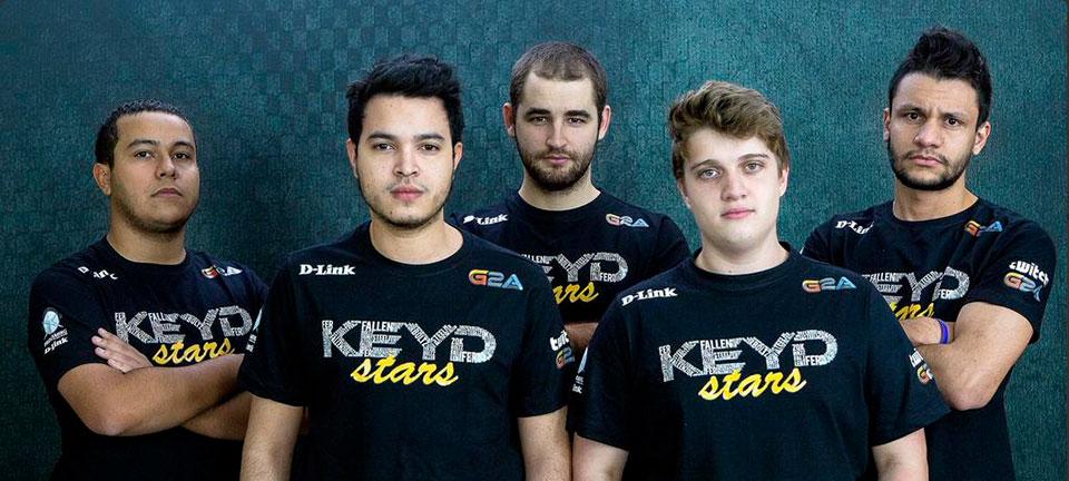 Equipe de Counter-Strike patrocinada pela Keyd em 2015 com Gabriel 'Fallen' Toledo