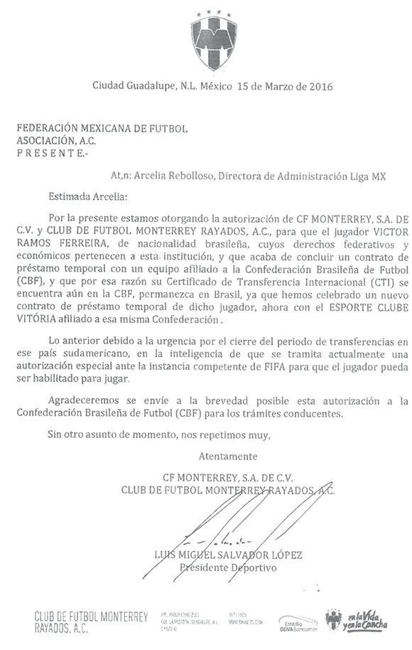 Carta Monterrey