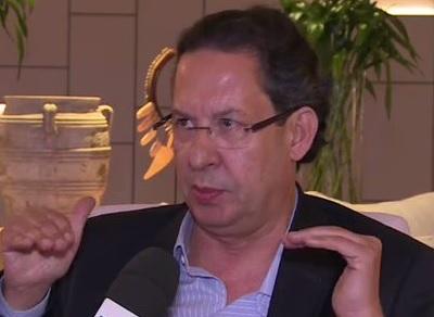 Lásaro Candido da Cunha durante a entrevista