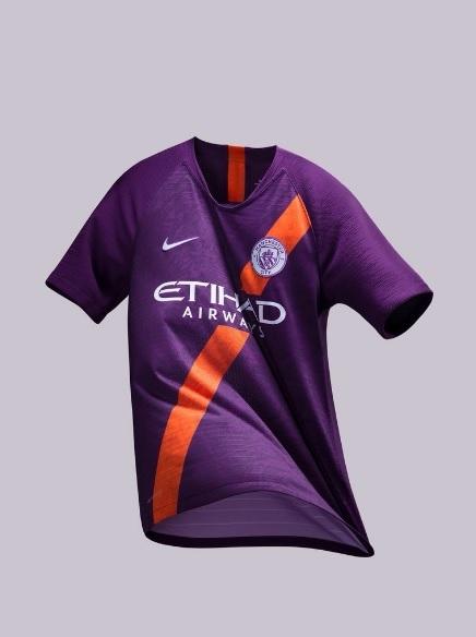 a7a95437a4 Manchester City apresenta nova camisa 3 violeta para a temporada ...