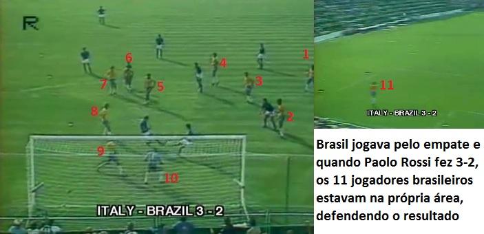 Mesmo quando defendia com todos os homens o Brasil era frágil na retaguarda