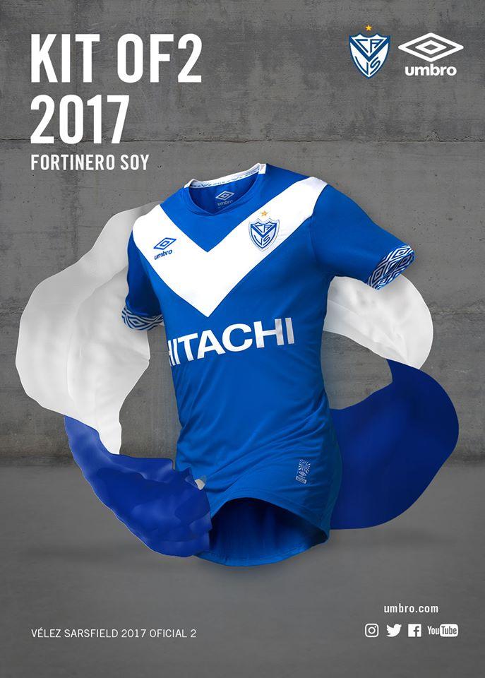 46f57e967f0 Mesmo em crise, Vélez Sarsfield lança linda camisa para 2017 | Blogs ...