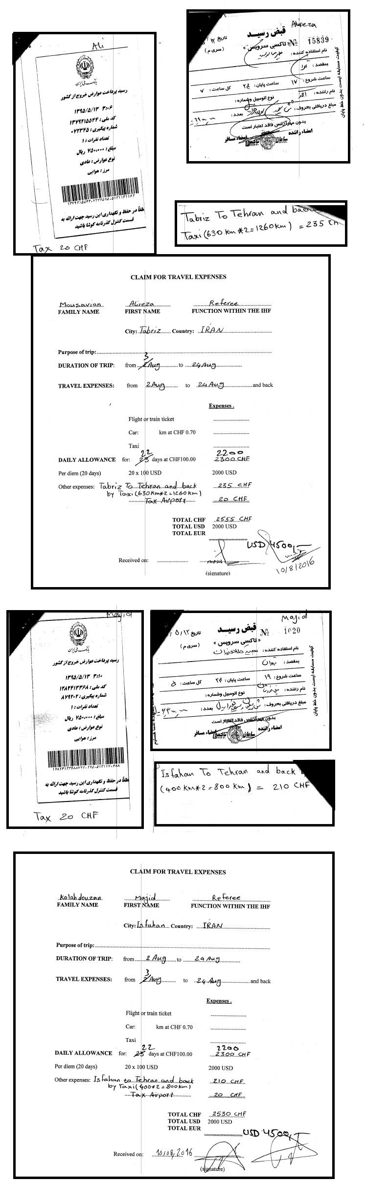 O Irã é bem longe do Brasil, mas a CBHb pagou com dinheiro público por táxi iraniano