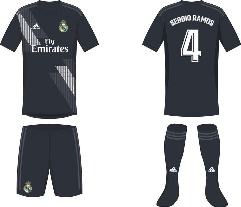 Provável camisa 2 do Real Madrid para a próxima temporada
