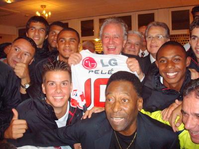 Everson tirou foto com Pelé