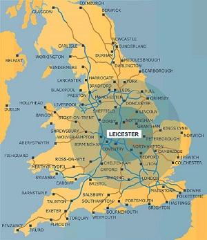 Leicester, cidade no centro da Inglaterra com menos de 400 mil habitantes