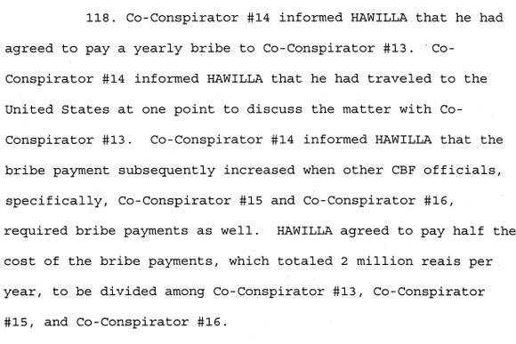 Os detalhes da investigação do pagamento de propina de J. Hawilla a quatro dirigentes