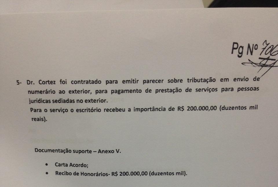 Quinto pagamento feito pelo SPFC a Cortez