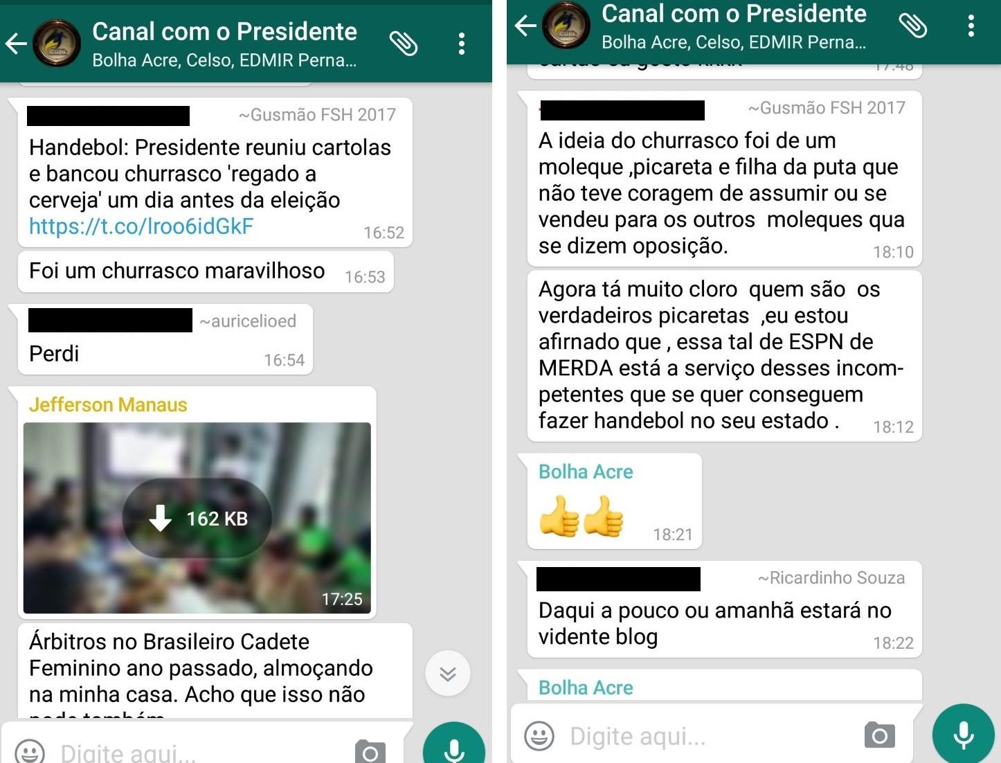 Presidentes do Handebol se revoltaram com divulgação de churrasco