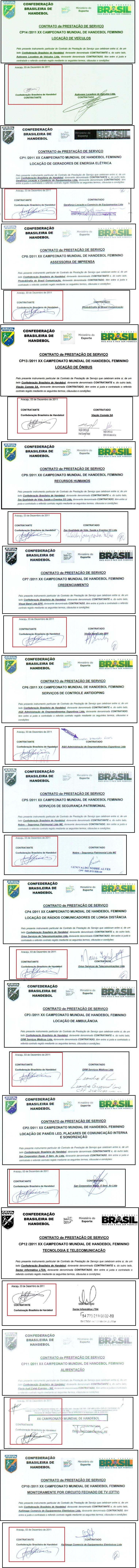 Presidente assinou contratos de empresas vencedoras no mesmo dia de atas
