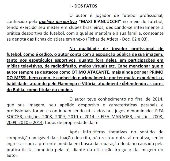 Primo de Messi quer R$ 160 mil por aparecer no Fifa