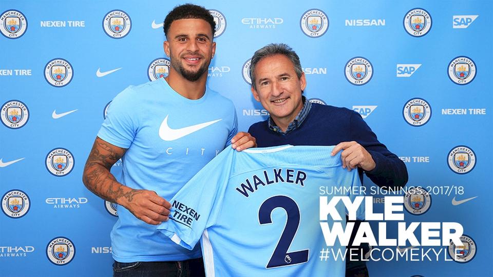 7º - Kyle Walker (51 milhões de euros, R$ 190 milhões): será o camisa 2 do Manchester City