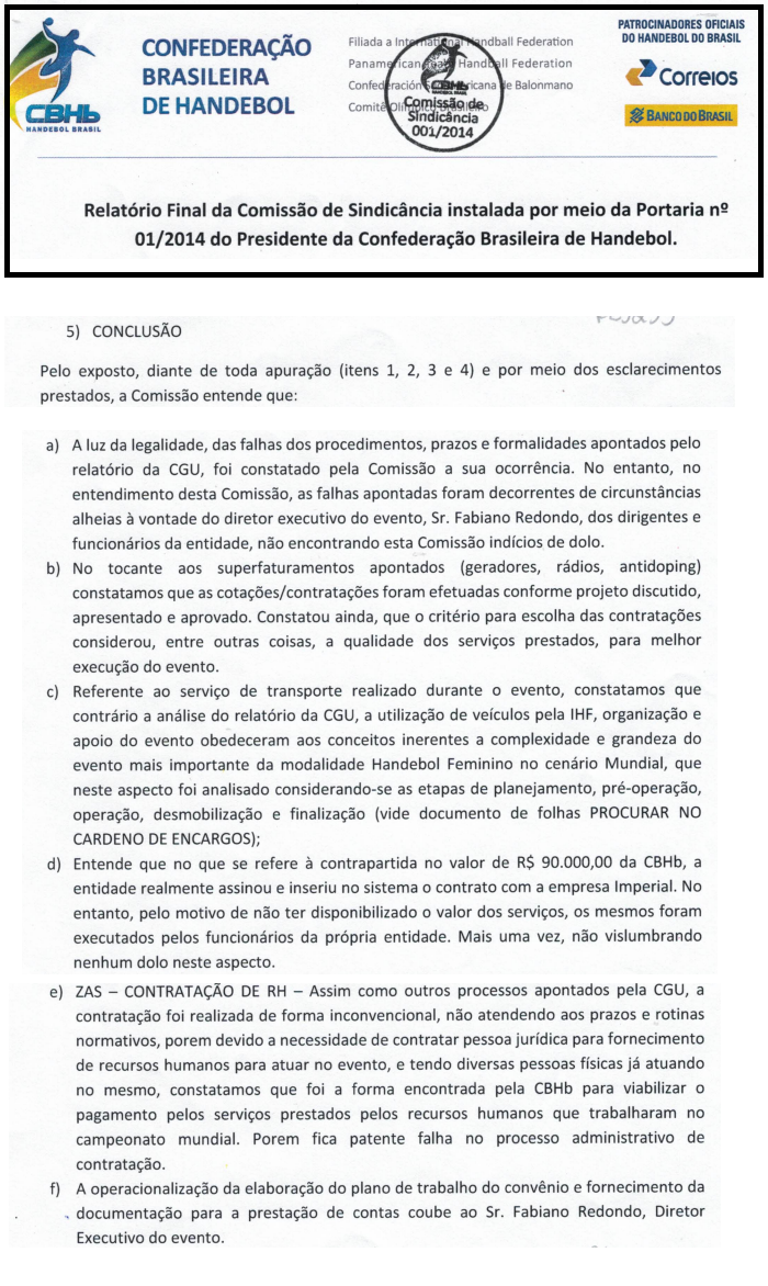 Comissão de Sindicância da CBHb analisou alegações do CGU