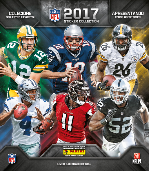 266e7d873 Álbum de figurinhas da NFL de 2017 chegou! Veja fotos