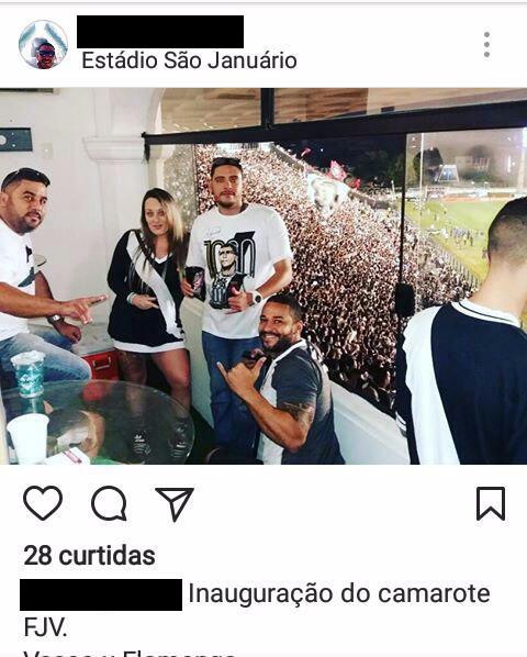 Camarote da Força Jovem inaugurado no dia do jogo contra o Flamengo