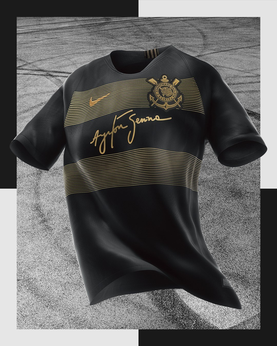 Nova camisa 3 do Corinthians homenageia piloto Ayrton Senna   Blogs ... 7876980acb