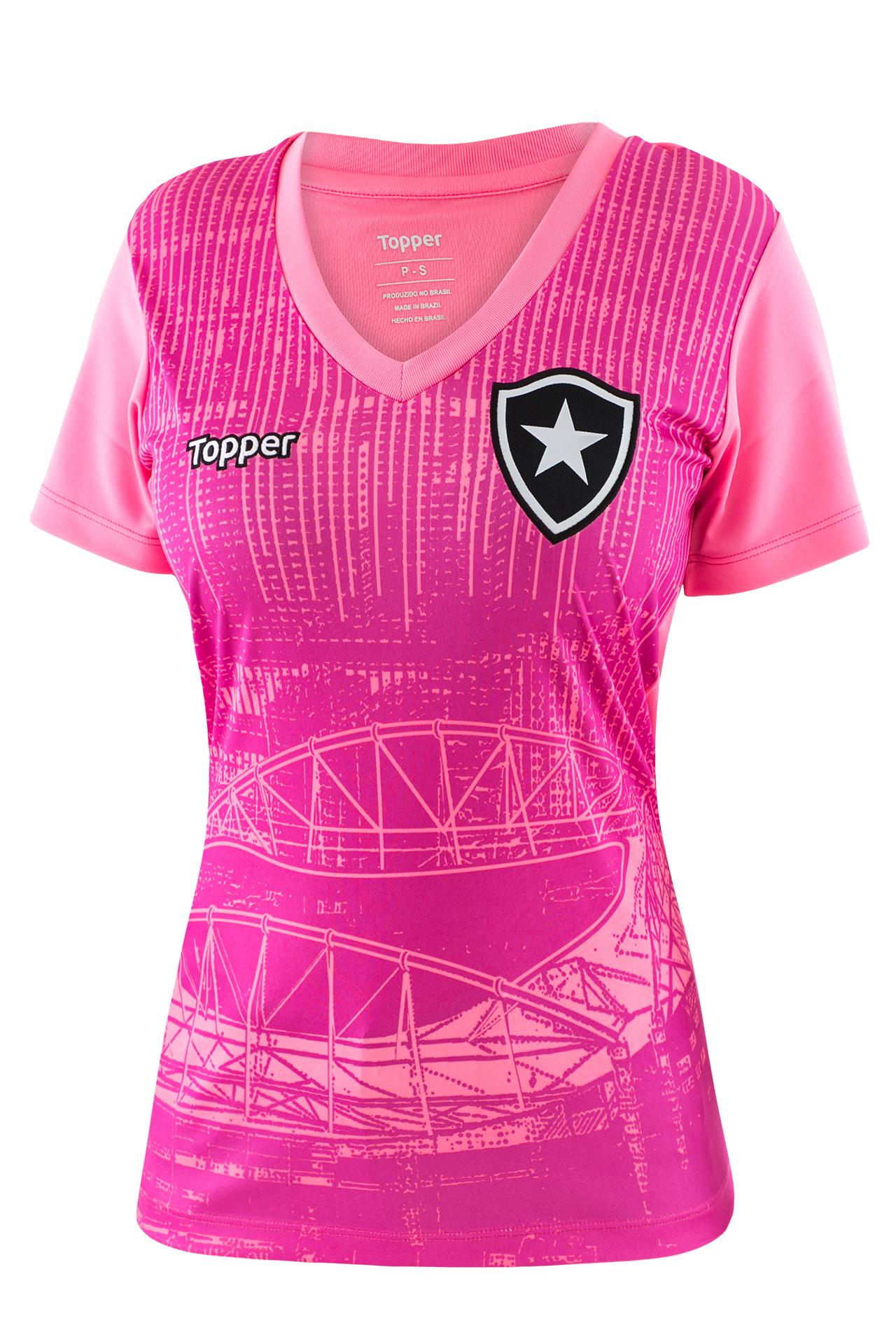 14b2c98d45 Fornecedora lança camisas alusivas ao Outubro Rosa para 11 clubes ...