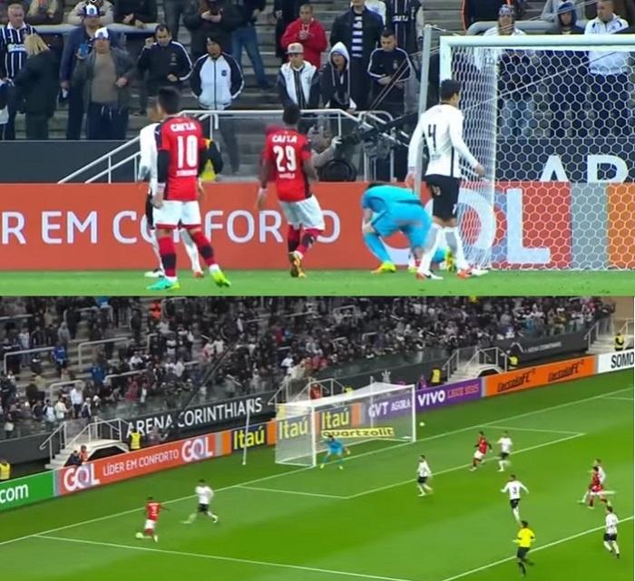 Nem o setor atrás do gol onde ficam a as torcidas organizadas, lotou em Corinthians x Vitória