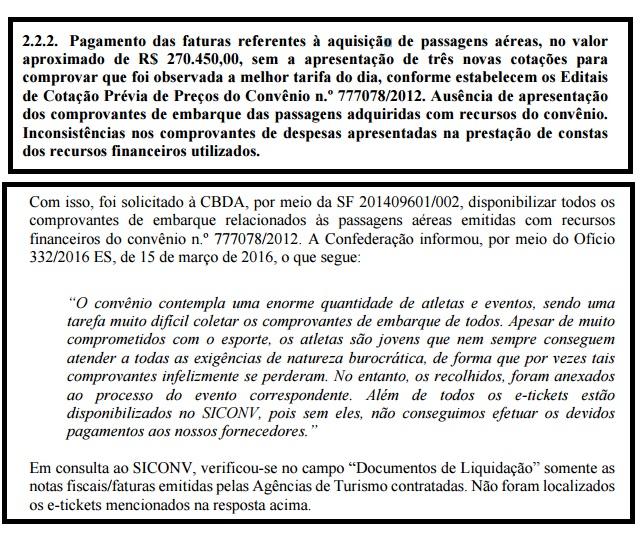 Ministério da Transparência relata problemas em passagens; CBDA 'culpa' atletas