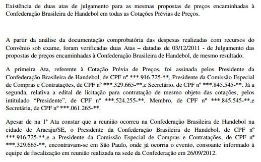 CGU confirma que presidente da CBHb assinou atas como se estivesse em Aracaju