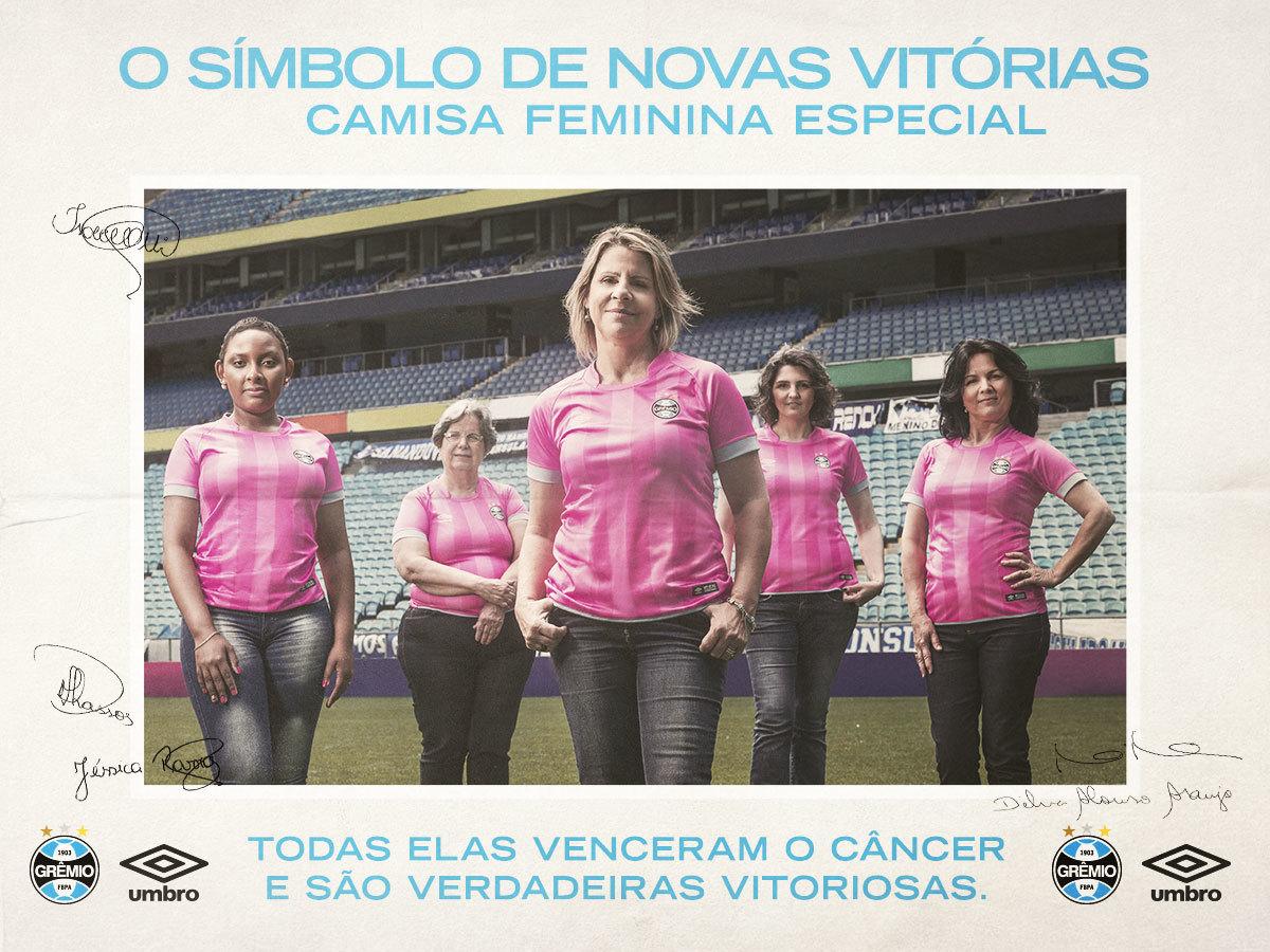 275078b1a590e Camisa rosa do Grêmio possui versão apenas feminina