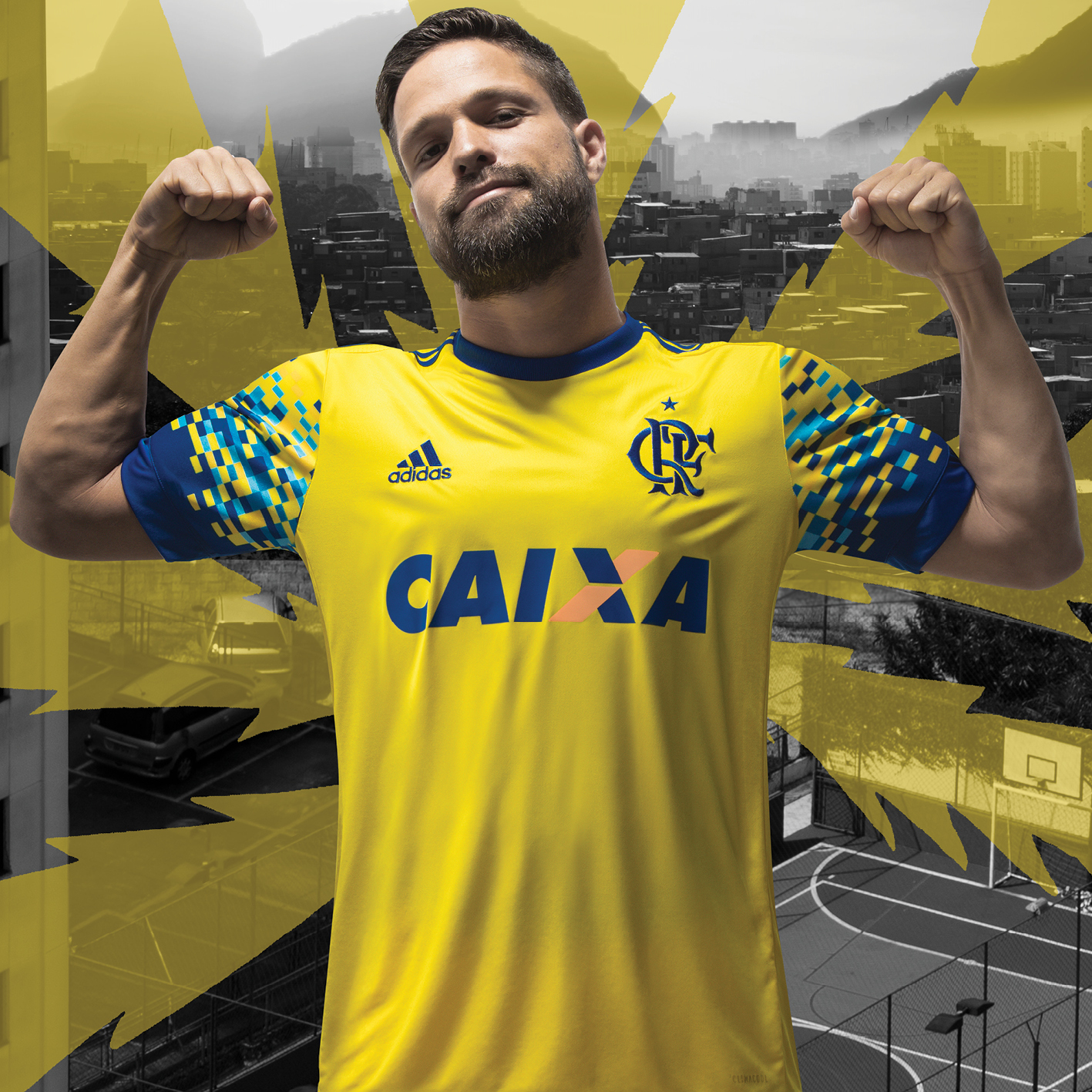 """0f5967dcc7 Eu desenhei a camisa do Mengão!"""", celebrou André Lima, brasiliense de 19  anos e autor do modelo escolhido pela Adidas, que homenageia as cadeiras do  ..."""