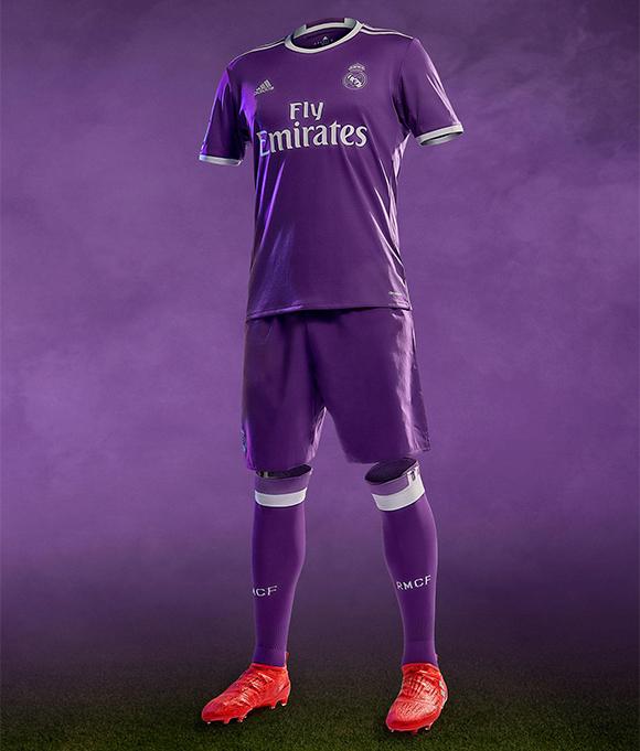 Real Madrid também terá segundo uniforme roxa na próxima temporada