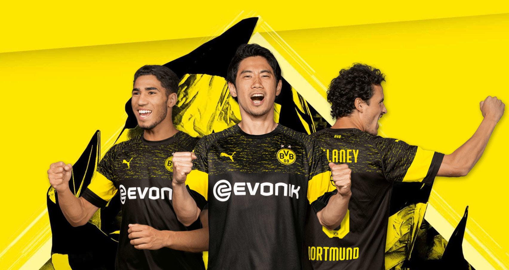 03776a9664 O Borussia Dortmund apresentou nesta quinta-feira sua nova camisa 2.