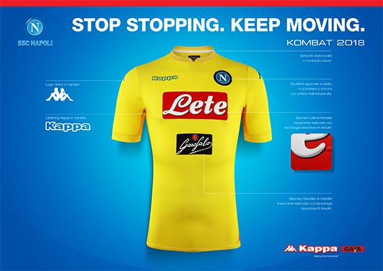 bc2aff42de O uniforme já está à venda na loja do Napoli por 89 euros (R  328).