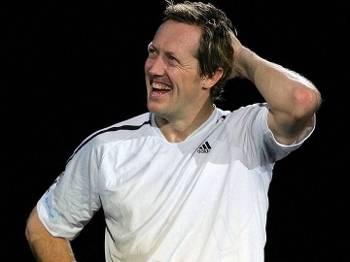 Ex-tenista sueco Jonas Bjorkman durante torneio em 2008